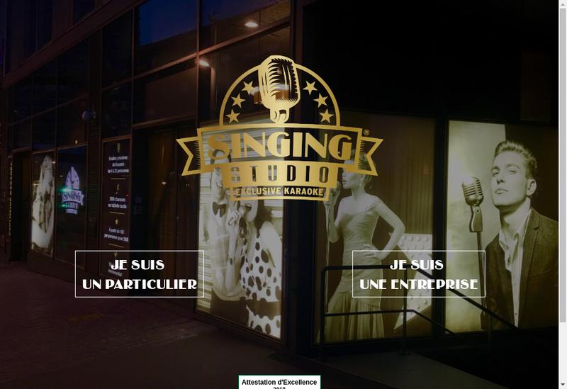 Capture d'écran du site de Singing Studio