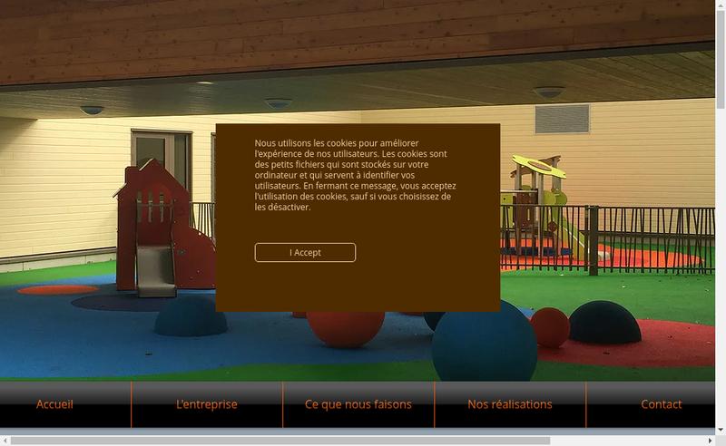 Capture d'écran du site de Site Equip