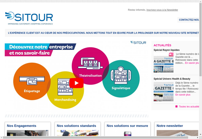 Capture d'écran du site de Sitour