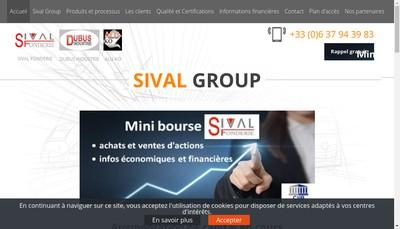 Site internet de Sival