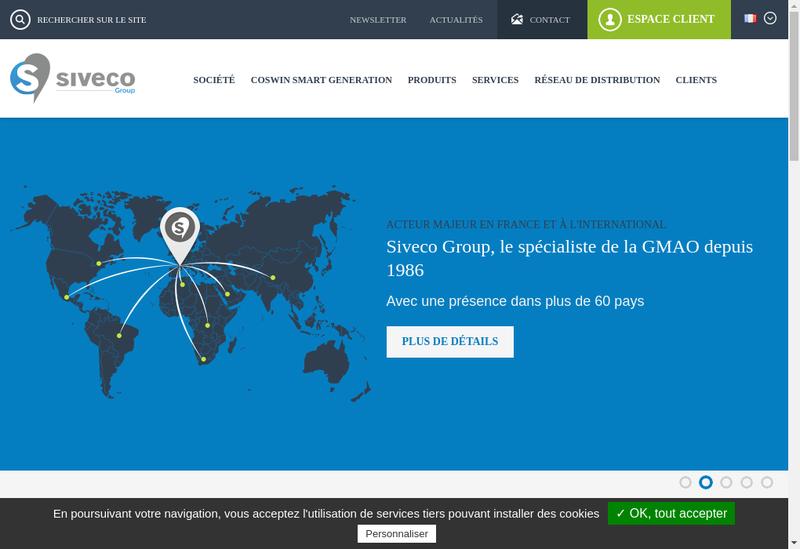 Capture d'écran du site de Siveco Group