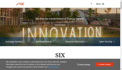 Site internet de Six Financial Information France