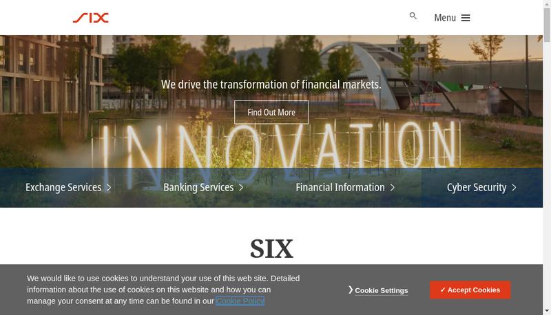 Capture d'écran du site de Six Financial Information France