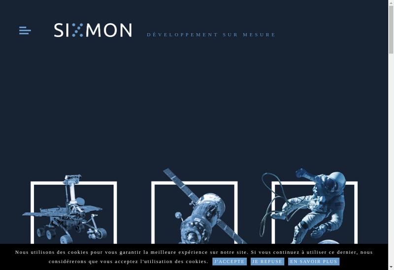 Capture d'écran du site de Sixmon