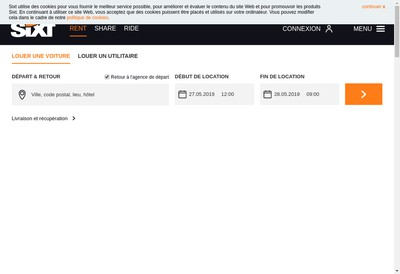 Site internet de Sixt Location Longue Duree