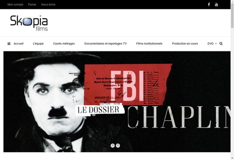 Capture d'écran du site de Skopia Films