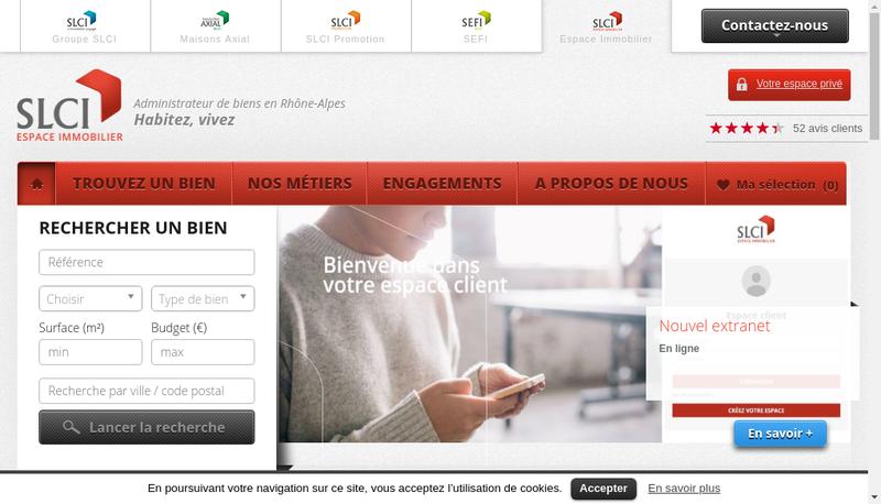 Capture d'écran du site de Regie Simonneau