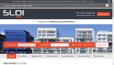 Capture d'écran du site de Gemofis