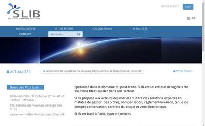 Site internet de Services Logiciels d'Integration Boursiere - Slib
