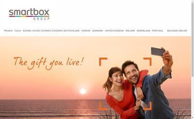 Site internet de Smartbox Group France
