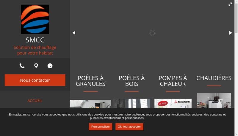 Capture d'écran du site de SMCC