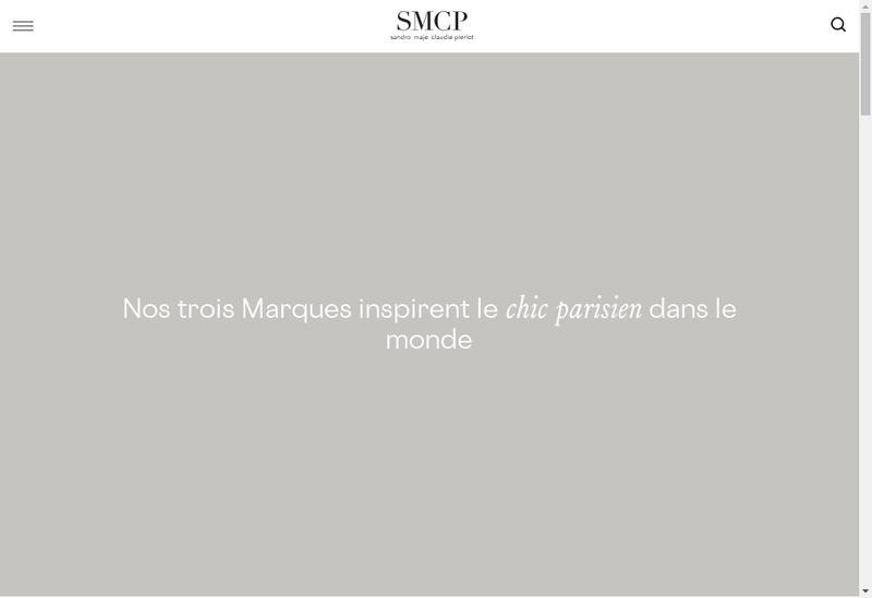 Capture d'écran du site de Smcp Sas