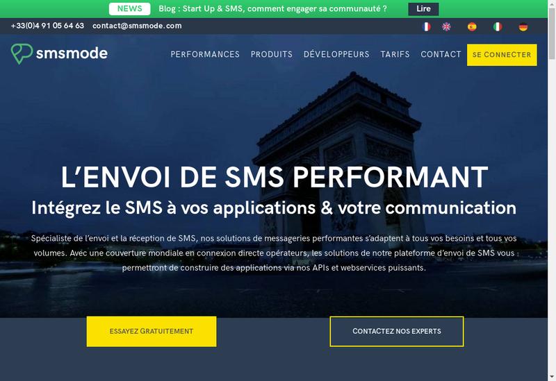 Capture d'écran du site de Calade Technologies