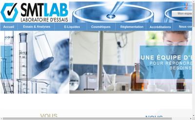 Site internet de SMT Laboratoire d'essais