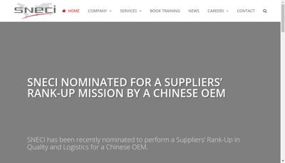 Capture d'écran du site de Sneci
