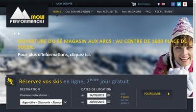 Site internet de Groupe Snow Performances