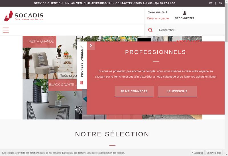 Capture d'écran du site de Souvenir Cadeau Distribution