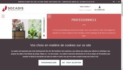 Site internet de Souvenir Cadeau Distribution