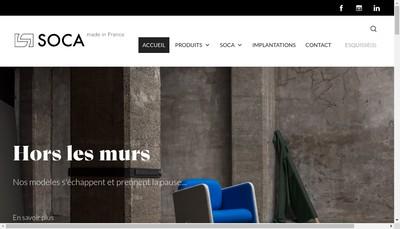 Site internet de Concher Ameublement Soca