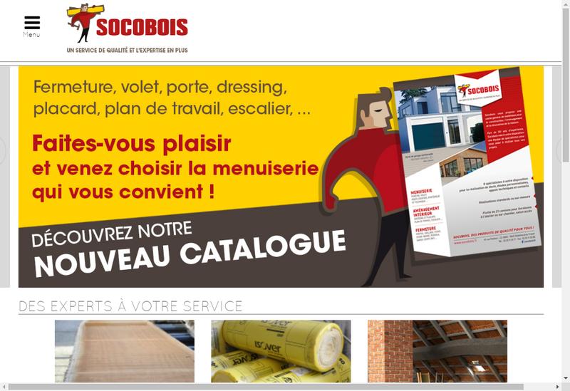 Capture d'écran du site de Socobois