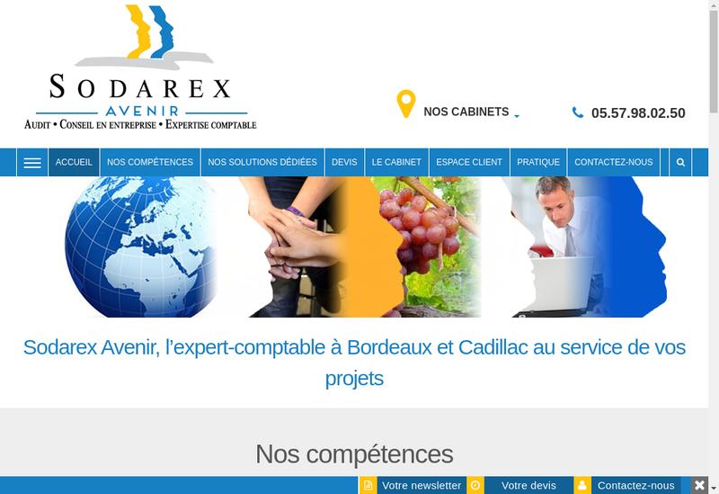 Capture d'écran du site de Sodarex Avenir