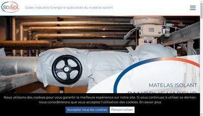 Site internet de Sodex Industrie Energie