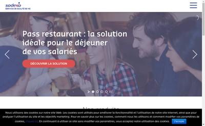 Site internet de Sodexo Pass France