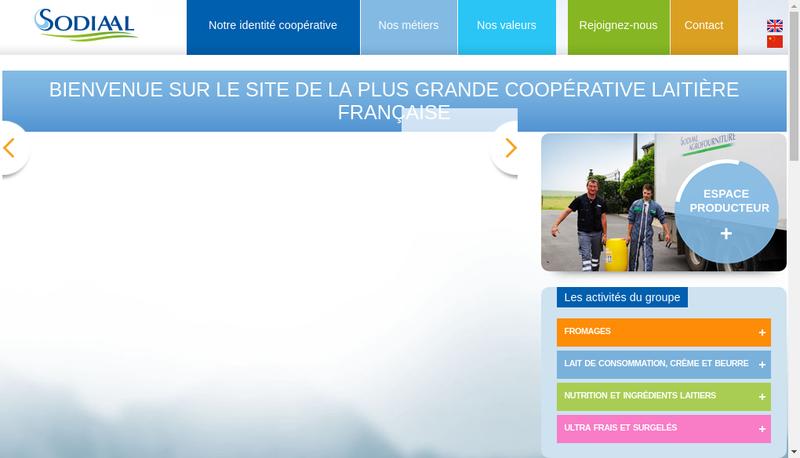 Capture d'écran du site de Societe Diffus Internat Agro-Alimentaire