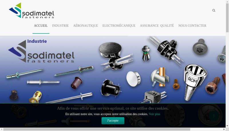 Capture d'écran du site de Sodimatel