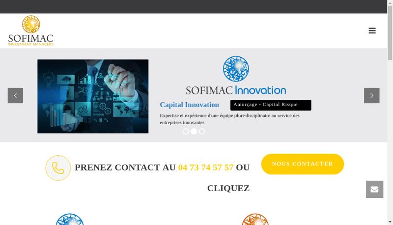 Capture d'écran du site de Sofimac