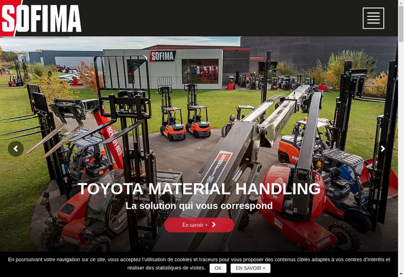 Capture d'écran du site de Alpha Sofima Location