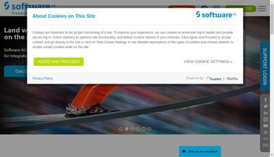 Site internet de Software Ag France