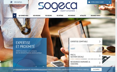 Site internet de Sogeca Audit