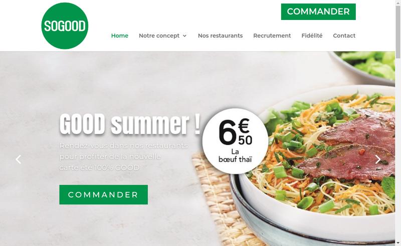 Capture d'écran du site de Sogood