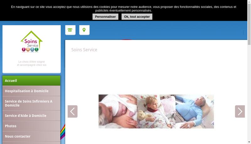 Capture d'écran du site de Soins Service