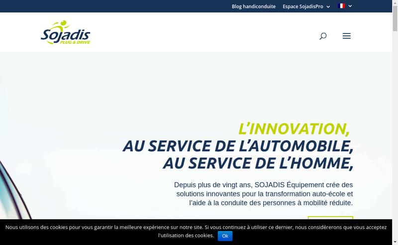 Capture d'écran du site de Sojadis Equipement