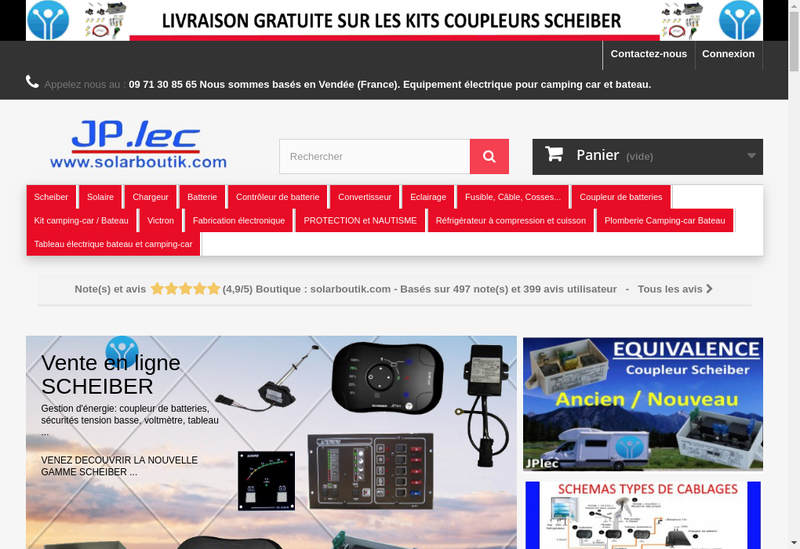 Capture d'écran du site de Jp Lec