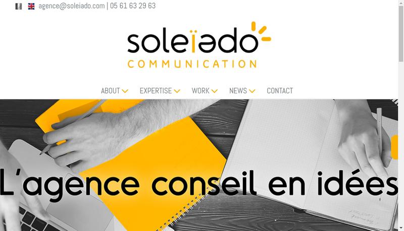 Capture d'écran du site de Soleiado Communication