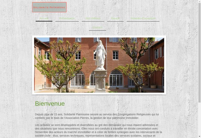 Capture d'écran du site de Solidarite Patrimoine