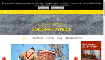 Capture d'écran du site de Solignac Ramonage