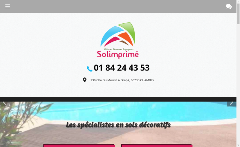 Capture d'écran du site de Solimprime