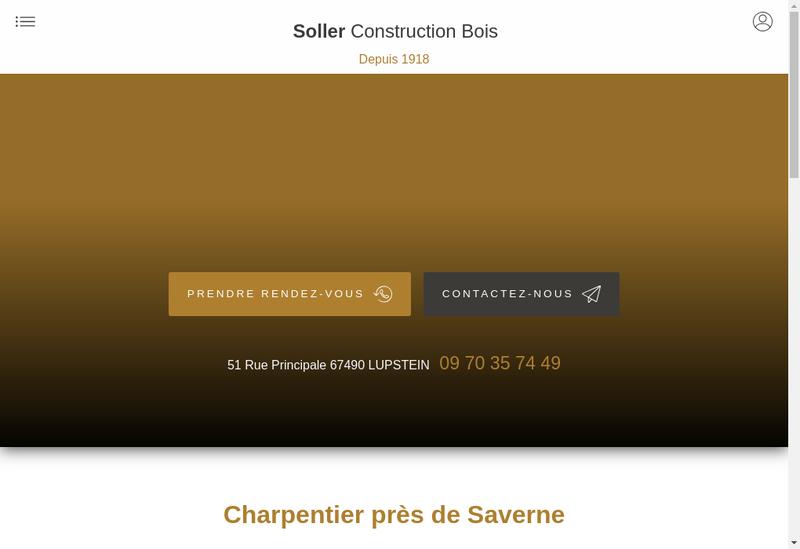 Capture d'écran du site de Soller