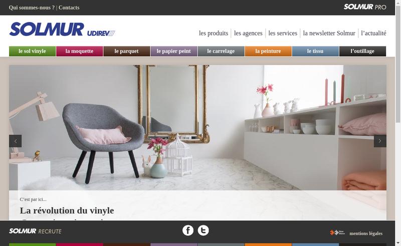 Capture d'écran du site de Solmur