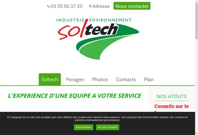 Site internet de Soltech