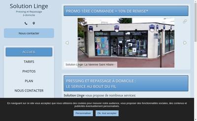 Site internet de Solution Linge