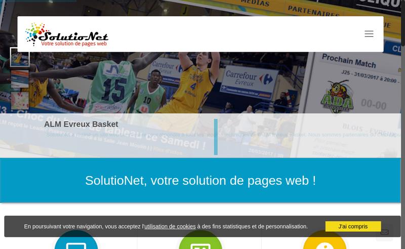 Capture d'écran du site de Solutionet Fr
