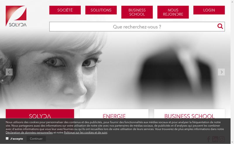 Capture d'écran du site de Solyda France