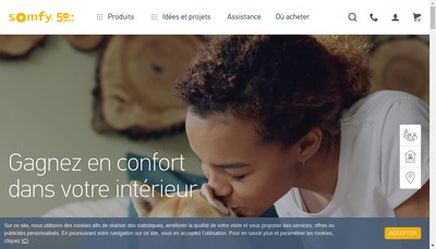 Site internet de Somfy Protect By Myfox