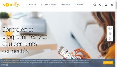 Site internet de Somfy Activites SA