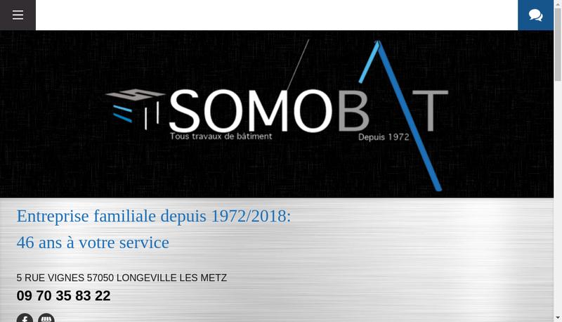 Capture d'écran du site de Somobat